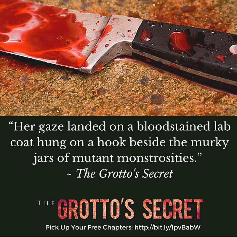The Grotto's Secret Blood Stained Knife
